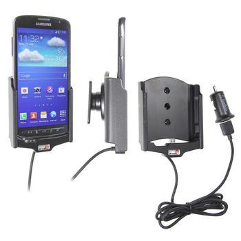 Brodit držák do auta na Samsung Galaxy S4 Active bez pouzdra, s nabíjením z cig. zapalovače/USB