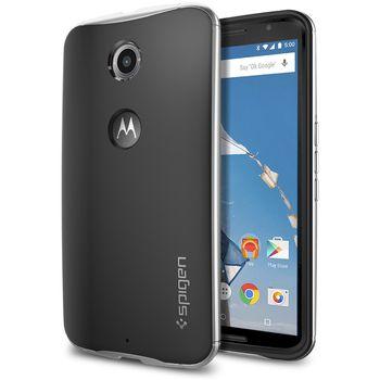 Spigen pevné pouzdro Neo Hybrid pro Motorola Nexus 6, stříbrná