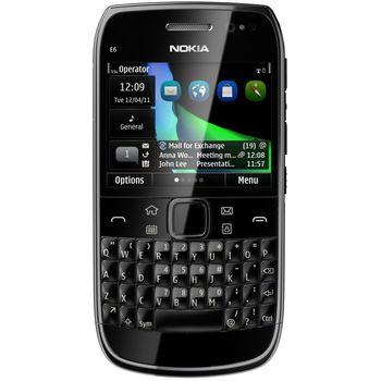 Nokia E6-00 Black + Nabíjecí sada na kolo Nokia