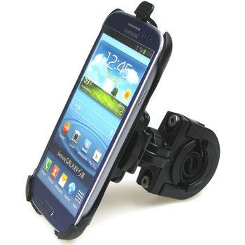 Sestava SH držáku pro Samsung Galaxy S III i9300 s krátkým držákem na řídítka na kolo s kloubem