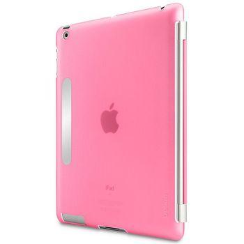 Belkin ochranný kryt Snap Shield s kovovým proužkem pro nový iPad 3, růžová (F8N745cwC04)