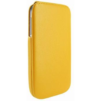Piel Frama pouzdro pro Samsung Galaxy S4 iMagnum, Yellow, kvalitní kůže, ruční výroba Španělsko