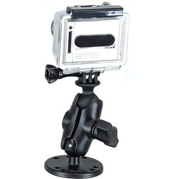 RAM Mounts držák na GoPro Hero na bort kajaku, skútr, atd. na šroubky nebo vruty, AMPS, sestava RAM-B-138-GOP1U