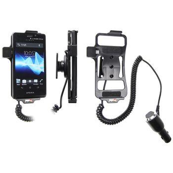 Brodit držák do auta na Sony Xperia T bez pouzdra, s nabíjením z cig. zapalovače