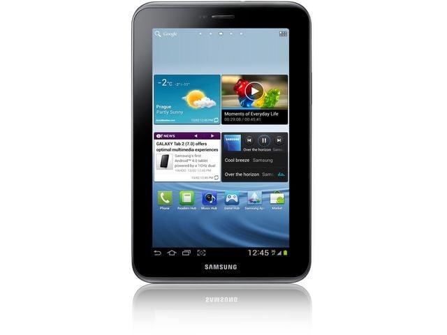 obsah balení Samsung GALAXY Tab 2 7.0 Wi-Fi 16 GB + dobíjecí a synchronizační kolébka Kidigi