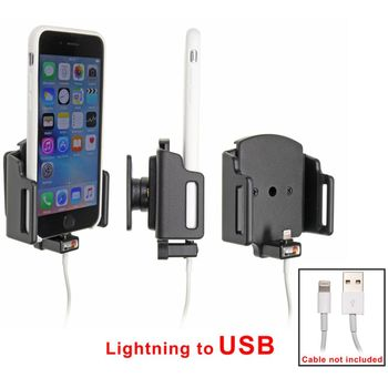Brodit držák do auta na Apple iPhone 6S v pouzdru, nastavitelný, s průchodkou pro Lightning kabel