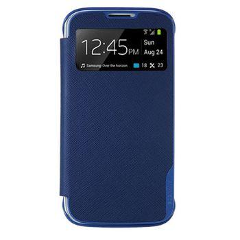 ANYMODE pouzdro typu kniha pro Samsung Galaxy S4 s funkcí S-view, PU kůže, modré