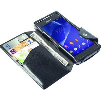 Krusell pouzdro FlipWallet Kalmar - Sony Xperia Z1 Compact, černá