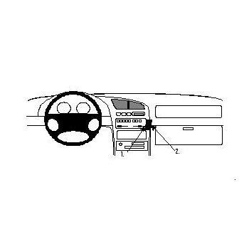 Brodit ProClip montážní konzole pro Mazda 323 F 95-97, na střed vpravo