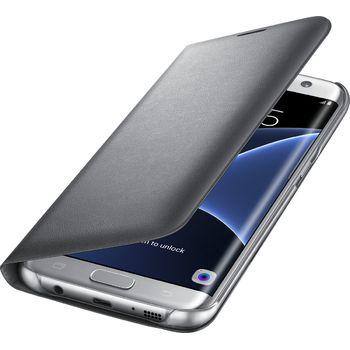Samsung LED flipové pouzdro s kapsou EF-NG935PS pro Galaxy S7 edge, stříbrné