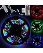 LED pásek  5m, do USB, dálkový ovladač, samolepící, 3528RGB