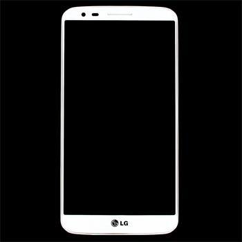 Náhradní díl LCD displej + dotyková deska + přední kryt pro LG G2, bílý