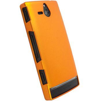 Krusell hard case - ColorCover - Sony Xperia U  (oranžová metalíza)