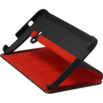 HTC flipové pouzdro se stojánkem Double Dip Flip HC V841 pro HTC One, černo červené
