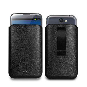 PURO Eco-Leather SLIM ESSENTIAL case pro Samsung Note II - černá