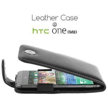 Brando kožené pouzdro flip top pro HTC One M8
