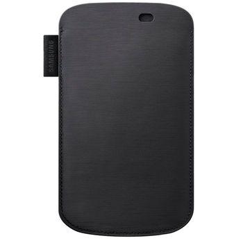 Samsung pouzdro kožené EFC-1E9L pro Wave III (S8600), černá