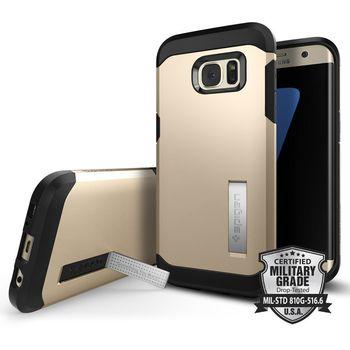 Spigen pouzdro Tough Armor pro Galaxy S7 edge, zlaté