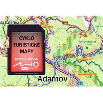 MIO Cyklo a turistický atlas ČR+Bonus SR+SD karta 512MB pro Mio C520/720 OEM