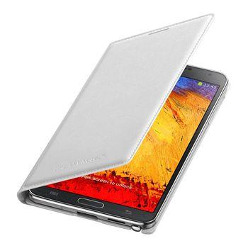 Samsung flipové pouzdro s kapsou EF-WN900BW pro Galaxy Note 3, bílá