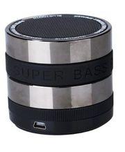 Bluetooth přenosný reproduktor FM/MP3 SD slot, stříbrný matný