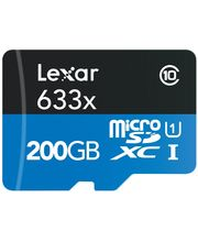 Lexar microSDXC 200GB UHS-1+USB (Class 10)