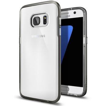 Spigen pouzdro Neo Hybrid Crystal pro Galaxy S7 , kovově šedé