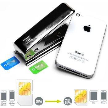 Řezačka na SIM karty + 2 adaptéry z microSIM na SIM