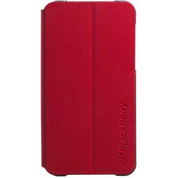 BlackBerry Hardshell Flip Leather kryt pro BlackBerry Z10, červená