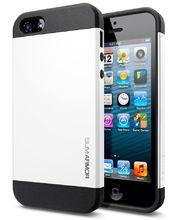 Spigen pevné pouzdro Slim Armor pro iPhone 5/5S, bílé