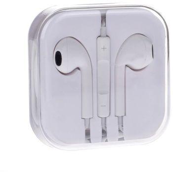 Sluchátka 3,5mm jack, ovladač hlasitosti, mikrofon, bílá