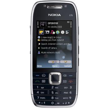 NOKIA E75 Silver Black 4GB + aktivní držák Brodit