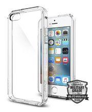 Spigen pouzdro Ultra Hybrid pro iPhone SE/5s/5, průhledná