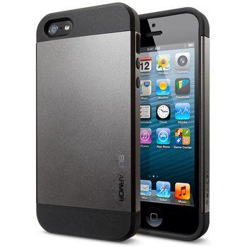 Spigen pevné pouzdro Slim Armor pro iPhone 5/5S, šedé