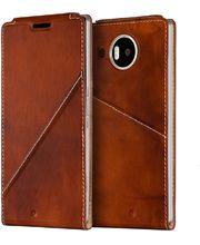 Mozo flipové pouzdro pro bezdrátové nabíjení pro Lumia 950 XL, hnědé