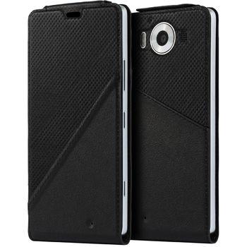 Mozo flipové pouzdro pro bezdrátové nabíjení pro Lumia 950 XL, černé