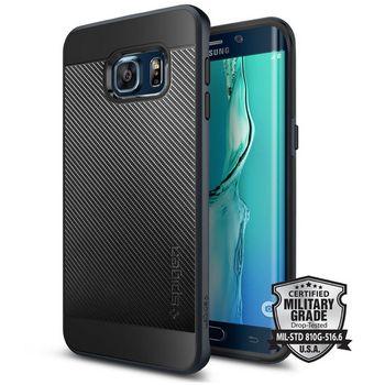 Spigen pouzdro Neo Hybrid Carbon pro Samsung GALAXY S6 edge+, břidlicové