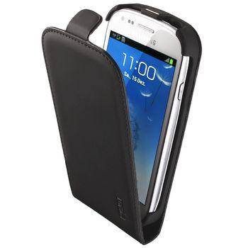 Artwizz kožené FLIP PLUS pouzdro pro Samsung Galaxy S III mini - matná černá