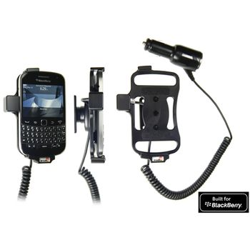 Brodit držák do auta na BlackBerry Bold 9900/9930 bez pouzdra, s nabíjením z cig. zapalovače