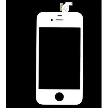 Náhradní díl LCD displej + dotyková vrstva pro Apple iPhone 4G (originál), bílá