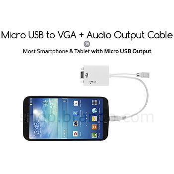 Brando MHL redukce micro USB na VGA + audio