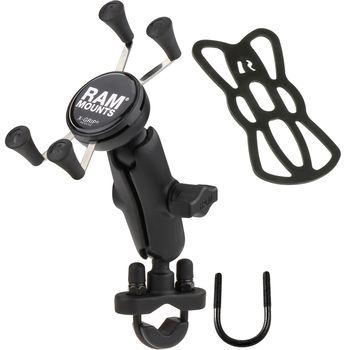 RAM Mounts univerzální držák na mobilní telefon na motorku nebo na kolo na řídítka, Ø objímky 12,7-31,75 mm, X-Grip, sestava RAM-B-149Z-UN7BU