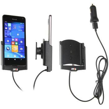Brodit držák do auta na Microsoft Lumia 650 bez pouzdra, s nabíjením z cig. zapalovače/USB