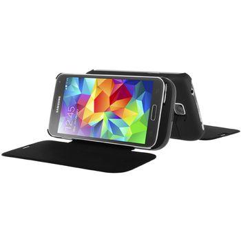 Brando flipové pouzdro s přídavnou baterií pro Samsung Galaxy S5, 4800mAh, černá