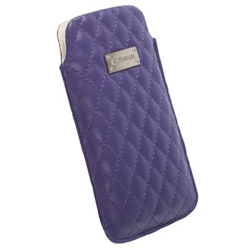 Krusell pouzdro Avenyn L Long - iPhone 5, Sony Xperia P/J (fialová)