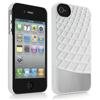 Belkin iPhone 4/4S ochranné pouzdro Meta 030, bílé (F8Z864cwC00)