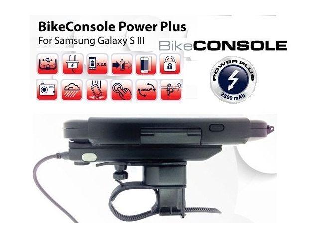 obsah balení Držák BikeConsole Powerplus pro Samsung Galaxy S III se záložním akumulátorem 2800mAh + Smartmaps cykloturisticky atlas 1:40tis