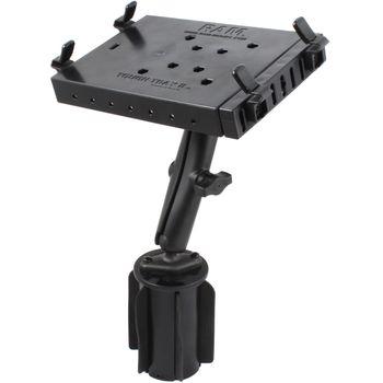 RAM Mounts univerzální držák na notebook/ tablet RAM Tough-Tray II™ s dlouhým ramenem do držáku na nápoje, sestava RAP-299-3-C-234-6U