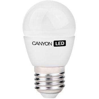 Canyon LED žárovka, (ekv. 25W) E27, kompakt kulatá, mléčná 3.3W, 250 lm,neutrální bílá 4000K