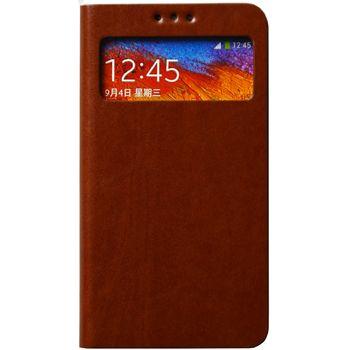 Zenus AVOC Toscana Diary flipové pouzdro s okénkem pro Samsung Galaxy Note 3, hnědá